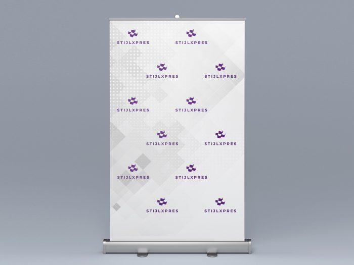Voorbeeld met een combinatie van logo's en grafische print